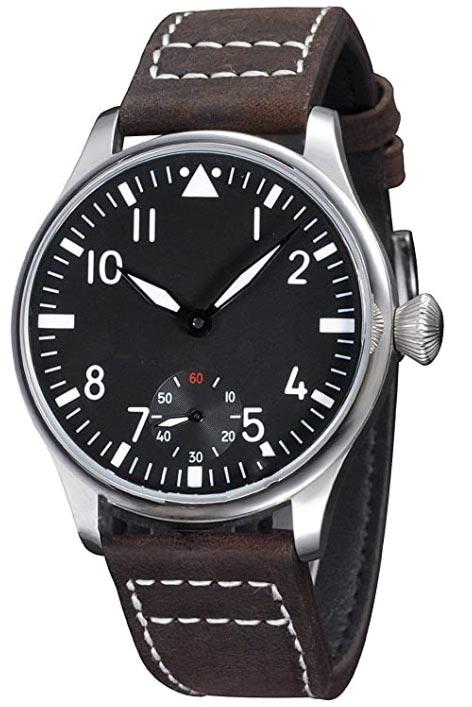 Parnis-Flieger-Hand-Wound-Pilot-Watch