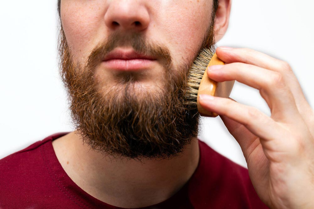 Use-of-a-Brush-on-Beard-Color-for-Staining-Stubble
