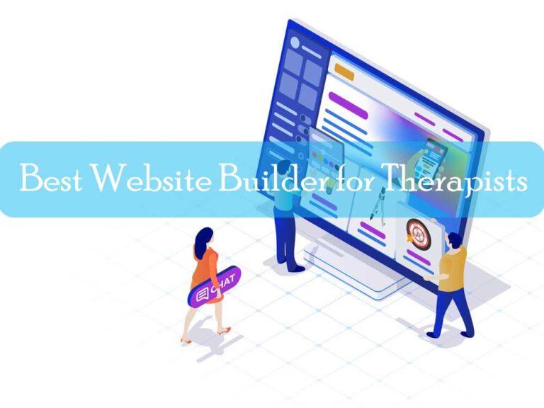 Top 5 Best Website Builder for Therapists