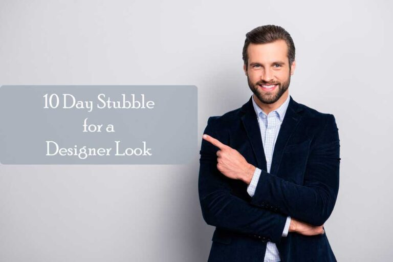The length of the 10 Day Stubble for a Designer Look
