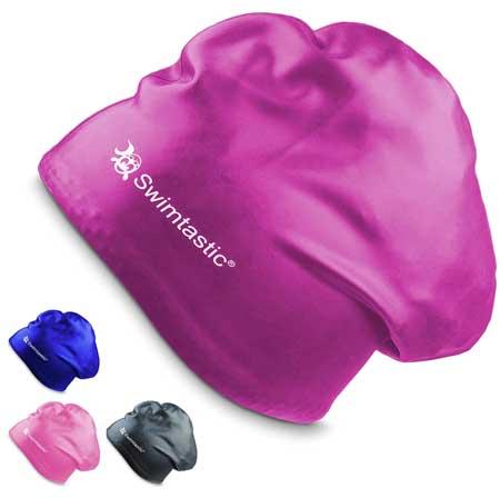 Purple-Swim-Cap